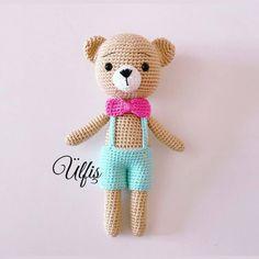 How to crochet Little Teddy Bear Amigurumi Crochet Toys, Free Crochet, Bear Bows, Single Crochet Stitch, Half Double Crochet, Yarn Colors, Slip Stitch, Crochet Patterns, Teddy Bear