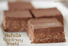 Nutella Rice Krispie Treats.  Clay loves Rice Krispie treats and I love Nutella - it is a match made in heaven!!