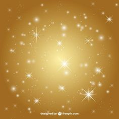 Golden background with stars Golden Background, Lights Background, Merry Christmas Vector, Islamic Calligraphy, Cute Wallpapers, Vector Free, Backgrounds, Doodles, Sparkle