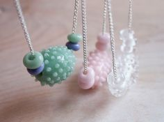 Mint Glass Dots Bead Necklace by UrbanRevisions on Etsy, $34.00