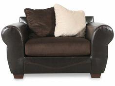 ASH 3850023   Ashley Verizon Chocolate Chair And A Half | Mathis Brothers  Furniture