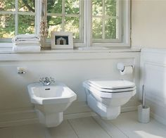 Demure, space saving, and easy to clean, the wall-hung toilet is a long-time fixture in European bathrooms that's getting more attention from remodelers in