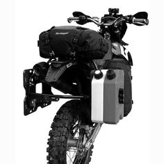 Kriega Adv Overlander 60Innovative 60L panniers. Integrated platform design accepts 100% waterproof Overlander-15 packs or multiple Rotopax Fuel and Water containers.