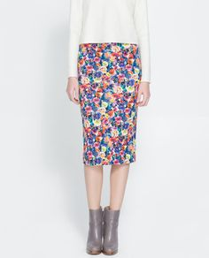 ZARA - WOMAN - PRINTED PENCIL SKIRT