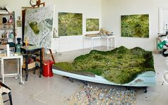 Artist Amy Bennet builds miniature worlds and then paints them.  Gorgeous.  Diorama project to painting inspiration.