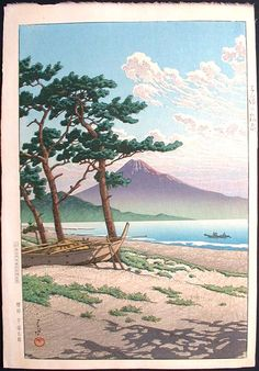 """""""Pine Beach at Miho"""" by Hasui, Kawase"""