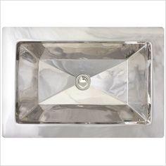 Facet Rectangular Undermount Bathroom Sink