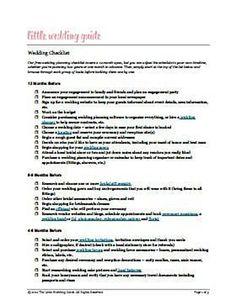 Free Printable Wedding Planning Checklists Martha StewartS