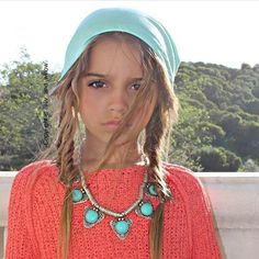 Harry Potter Witch, Spring Fashion, Girl Fashion, Cute Little Girls, Zendaya, Crochet Necklace, Beanie, Turquoise, Guys