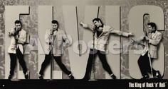 Elvis King Montage People Tin Sign - 41 x 22 cm