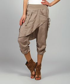 Mole Rosy Skirted Linen Harem Pants | something special every day