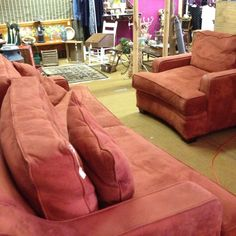 Paprika Couch And Oversized Chair $350   I Donu0027t Care Form The Color But