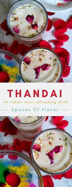 Thandai recipe: Thandai is an Indian traditional, festive drink made with milk, nuts and exotic spices. A quick recipe that tastes heavenly. Holi Recipes, Indian Food Recipes, Vegetarian Recipes, Vegetarian Platter, Easy Desserts, Delicious Desserts, Dessert Recipes, Drink Recipes, Thandai Recipes