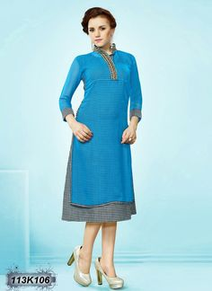 Buy Graceful Blue Colored Georgette Kurti Get 30% Off on Designer Kurtis From Leemboodi Fashion with Free Shipping in INDIA Now get 5% off on the purchase of 2 & buy 4 get 10% off till Ganesh Chaturthi. Limited Period Offer from Leemboodi Fashion Now Available on Cash On Delivery