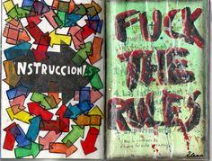 Instructions page / Página de instrucciones.  Wreck This Journal. Destroza este diario. #wreckthisjournal #destrozaestediario