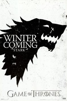 Game of Thrones - Winter is Coming - House Stark. Poster from AllPosters.com, $9.99