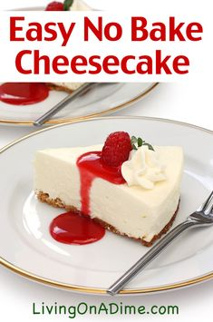 20 Of The Best Ever Homemade Pie Recipes This easy no-bake cheesecake recipe is an easy recipe to make delicious cheesecake with just 4 ingredients! It's easy and super yummy and sure to satisfy that cheesecake craving! Easy No Bake Cheesecake, Baked Cheesecake Recipe, Homemade Cheesecake, Homemade Pie, Basic Cheesecake, No Bake Cheescake, Cheesecake Bites, French Cheesecake, Cheesecake