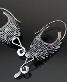 Scorpio Earrings by Sarah Thompson  - from Make Gallery-Worthy Wire Jewelry With Proper Finishing and Patina - Jewelry Making Daily