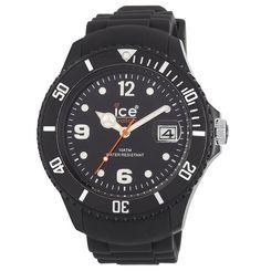 Ice-Watch SIBKBBS11 Men's Sili Forever Black Plastic Rubber Strap Watch