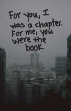 And I was a chapter in you're book