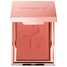 Shop PATRICK TA's Monochrome Moment - Velvet Blush at Sephora. This creamy, smooth, and seamless cheek color glides onto the skin and melts upon contact for a flawless, second-skin finish. Blush Makeup, Skin Makeup, Patrick Ta, Shade Finder, Jouer Cosmetics, Cosmetics Industry, Pigment Coloring, Blush Brush, Make Up