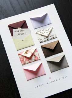 Mother's Day Card Music Notes and Cherry Blossoms – Tiny Envelopes Card Mother's Day Card: Music Notes and Cherry ~ by LemonDropPapers on etsy. Think about paper projects with a selection of several/many tiny envelopes Diy Crafts For Gifts, Paper Crafts, Tarjetas Diy, Handmade Birthday Cards, Diy Birthday Gifts For Mom, Birthday Box, Birthday Card For Teacher, Creative Birthday Cards, Daddy Birthday