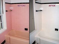 the power of paint on budget room revamps painting bathroom tilespink - Can I Paint Bathroom Tile