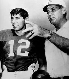 Probably the most famous coach quarterback relationship in history was the one between Bear Bryant and Joe Namath. On the surface, they seemed to be total opposites Bryant growing up dirt poor in an Arkansas town so small it wasnt on the map, while Namath, the son of immigrant parents, grew up in a Pennsylvania steel mill town. Bryant was the full-time authoritarian, while Namath was supremely rebellious. Yet, they clicked, or at least they learned to. al