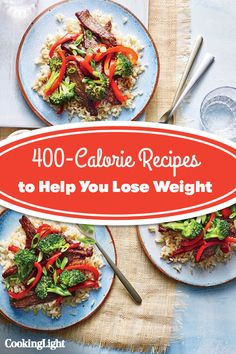 These healthy meals under 400 calories make meal planning a breeze. Browse our complete collection of low calorie recipes on Cooking Light. 400 Calorie Dinner, 400 Calorie Meals, No Calorie Foods, Low Calorie Recipes, Healthy Cooking, Healthy Food, Healthy Recipes, Calories Sweet Potato, Easy Dinner Recipes