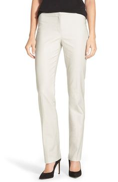 Free shipping and returns on NIC+ZOE 'Perfect' Pants (Regular & Petite) at Nordstrom.com. Tailored from a stretch-woven blend, versatile pants flatter with clean styling and slim-cut legs.  Make white pants from my basic.  Wear with black jacket and black heels.  Love it.