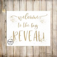 Gender Reveal Party Excited to share this item from my shop: Gold Reveal Party, Gold Gender Re. Baby Gender Reveal Party, Baby Shower Fun, Party Signs, Reveal Parties, Party Planning, New Baby Products, Etsy Shop, Lettering, How To Plan
