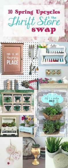 Thrift Store Swap #5 Spring Edition Reveal Part 1 is live!  Check out these wonderful Spring upcycle projects!
