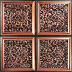 "Lover's Knot - Faux Tin Ceiling Tile - Glue up - 24""""x24"""" - #231"