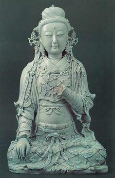 via Sam S   wonderful collection of pottery and many other things. Seated Bodhisattva Avalokitesvara (Guanyin)