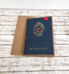Weihnachtskarten - Vintage Weihnachtskarte #1 Kraftpapier - ein Designerstück von POMMPLA bei DaWanda