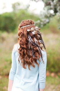 Curls and feathers