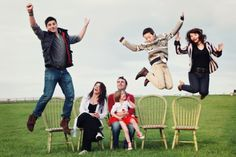 18 Creative Family Picture Poses- like this but maybe a different goofy pose for each child