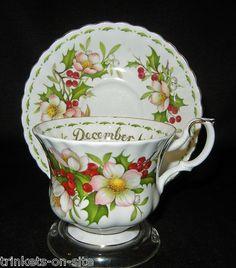 Royal Albert Flowers of the Month December CHRISTMAS ROSE Teacup & Saucer
