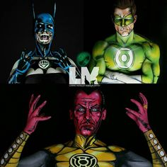 I will have all the lanterns!  Green Lantern Hal Jordan: @jinness88  Black Lantern Batman: @lustredust  Yellow Lantern Sinestro: @lustredust  #dc #dccomics #dcunited #dcuniverse #cosplay #cosplayer #cosplaygirl #makeup #muotd #artofinstagram #calgarymakeupartist #dehsonae #kellyjurado #twistinbangs #luvekat #argenapeede #sinestro #haljordan #batman #blacklantern #greenlantern #yellowlantern #greenlanterncorps #kryolan #superhero @dcentertainment @dccomics #justiceleague @Calgaryexpo…