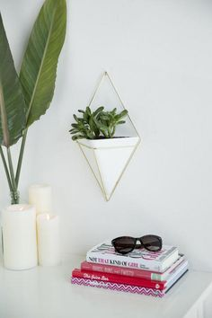 The Large Triangle Wall Planter is inspired by geometric shapes and can be used as a planter, organizer, or storage pocket!