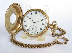 Antiques Atlas - A 1920s Cyma Half Hunter Pocket Watch & Chain.