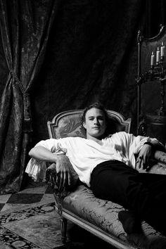 Heath Ledger photographed by Greg Gorman as Casanova, in Venice, 2004.