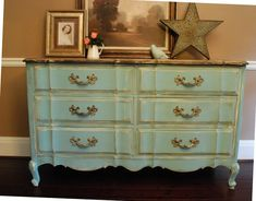 Between Blue and Yellow: Provence Dresser and baby news.