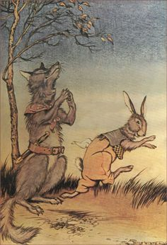 Brer Rabbit fotch a wiggle, he did, en lit on he foots - Nights With Uncle Remus by Joel Chandler Harris, 1917