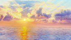 Magic Hour, Fantasy Landscape, Dream Life, 3 D, Scenery, Peace, Clouds, Island, Sunset