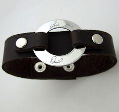 Handwriting Signature Bracelet for Men  Custom by NadinGlassico