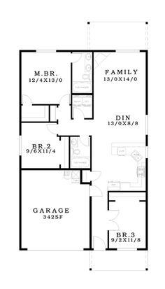 Ranch Floor Plan - Main Floor Plan Plan #943-46