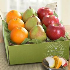 Fruit Gift Baskets - Mixed Fruit Gift Box Mixed Fruit, Fresh Fruit, Feeling Under The Weather, Fruit Gifts, Get Well Soon Gifts, Gift Baskets, Treats, Apple, Box