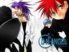 Dark, Krad, Satoshi, and Daisuke. I Love Anime, All Anime, Me Me Me Anime, Anime Guys, Dn Angel Manga, Anime Angel, D N Angel, Pandora Hearts, Maid Sama