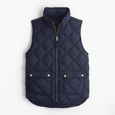 Navy Excursion quilted down vest : puffers and vests   J.Crew